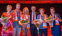 Den Bosch, The Netherlands, Februari 10, 2019,  Maaspoort , FedCup  Netherlands - Canada, first match Sunday : Awards<br /> Photo: Tennisimages/Henk Koster
