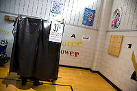 A voter casts her ballot for the Presidential Election at PS 22 on St. Marks Avenue in Brooklyn.