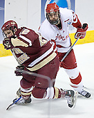 Dan Bertram, Kyle Klubertanz - The University of Wisconsin Badgers defeated the Boston College Eagles 2-1 on Saturday, April 8, 2006, at the Bradley Center in Milwaukee, Wisconsin in the 2006 Frozen Four Final to take the national Title.