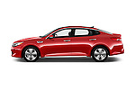Car Driver side profile view of a 2017 KIA Optima EX-Hybrid 4 Door Sedan Side View
