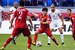 Nguyen Quang Hai of Vietnam (C) in action during the AFC Asian Cup UAE 2019 Round of 16 match between Jordan (JOR) and Vietnam (VIE) at Al Maktoum Stadium on 20 January 2019 in Dubai, United Arab Emirates. Photo by Marcio Rodrigo Machado / Power Sport Images