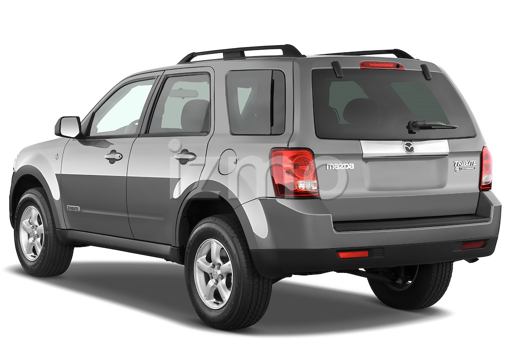 Rear three quarter view of a 2009 Mazda Tribute Hybrid