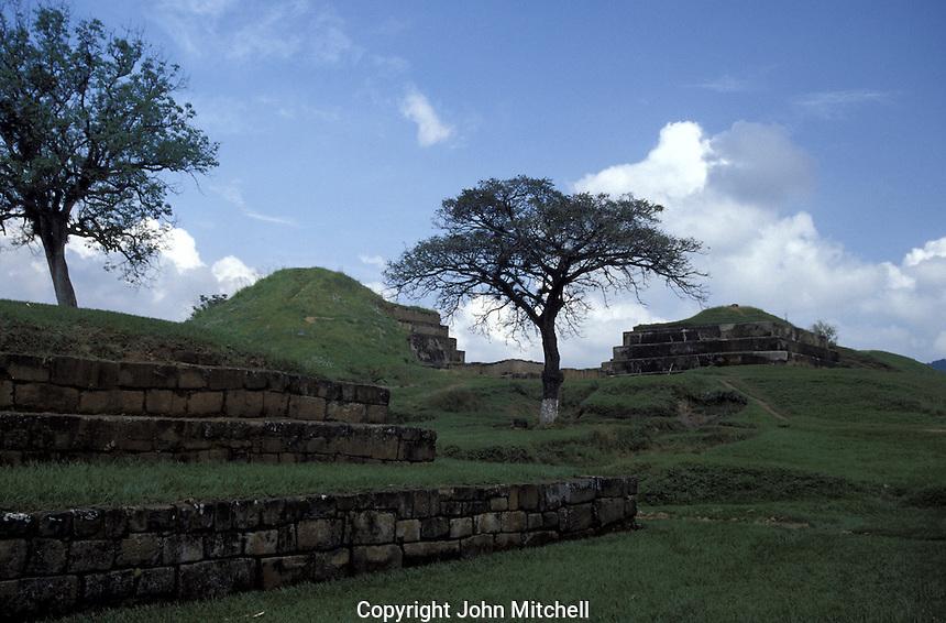 Pyramids at the Mayan ruins of San Andres in El Salvador, Central America