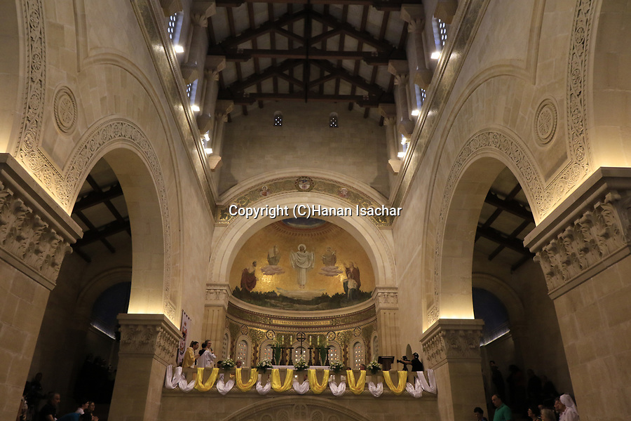 Israel, Jezreel valley, Feast of the Transfiguration at the Franciscan Church of the Transfiguration on Mount Tabor