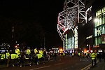 A heavier then usual police presence outside the stadium before  during the UEFA Europa League match at Old Trafford, Manchester. Picture date: November 24th 2016. Pic Matt McNulty/Sportimage