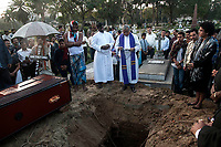 Last rites of Mr. Frank Stanley Correa in the Bhowanipore cemetery in Kolkata.Anglo Indians of Kolkata generally uses this cemetery as burial ground.