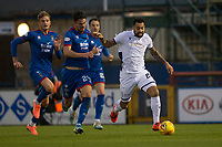 23rd November 2019; Caledonian Stadium, Inverness, Scotland; Scottish Championship Football, Inverness Caledonian Thistle versus Dundee Football Club; Kane Hemmings of Dundee races away from Charlie Trafford of Inverness Caledonian Thistle  - Editorial Use