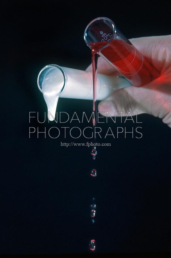 VISCOSITY COMPARISON OF LIQUID SOAP<br /> Test Tubes of Hand Soap &amp; Dish Soap