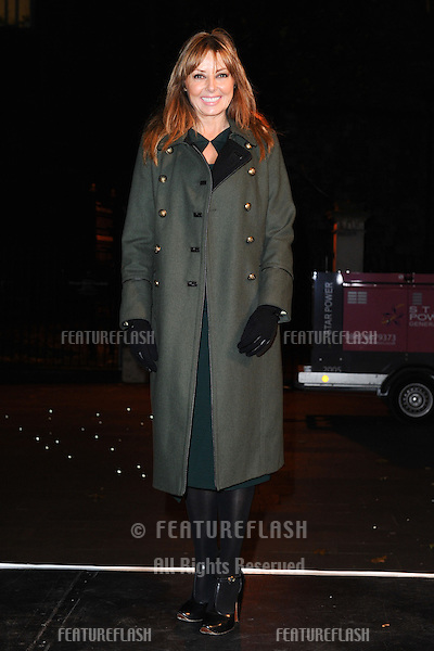 Carol Vorderman turns on the Mount Street Christmas Lights, Mayfair, London. 22/11/2012 Picture by: Steve Vas / Featureflash