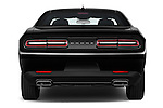 Straight rear view of 2018 Dodge Challenger SXT 2 Door Coupe Rear View  stock images