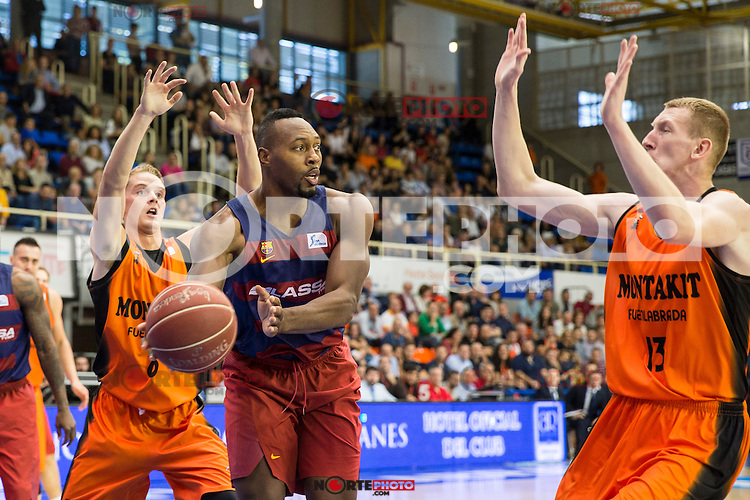 FC Barcelona Lassa's Joey Dorsey during the match of Endesa ACB League between Fuenlabrada Montakit and FC Barcelona Lassa at Fernando Martin Stadium in fuelnabrada,  Madrid, Spain. October 30, 2016. (ALTERPHOTOS/Rodrigo Jimenez) /NORTEPHOTO.COM