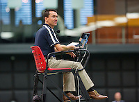 Rotterdam,Netherlands, December 15, 2015,  Topsport Centrum, Lotto NK Tennis, Chair Umpire<br /> Photo: Tennisimages/Henk Koster