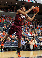 Virginia Tech forward Marshall Wood (33) handles the ball  during the game Tuesday in Charlottesville, VA. Virginia defeated Virginia Tech73-55.
