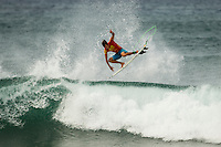 HONOLULU - (Thursday, November 15, 2012) Cory Lopez (USA). -- The REEF Hawaiian Pro at Haleiwa Ali'i Beach Park - the first jewel of the $1million Vans Triple Crown of Surfing was ready for an 8am start this morning but was put on hold till 12.30 pm because of small surf conditions.  As the surf increased during the afternoon the first 12 heats of the Round of 128 were completed with Mason Ho (HAW) scoring the 'wave of the day' on the last wave of the last heat. Ho scored a double barrel to easily win his heat.  Photo: joliphotos.com
