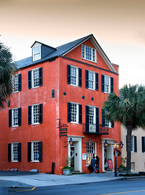 Charleston, South Carolina, 95 Broad Street, 240 year old building, 1770, Major Peter Bocquet Jr House, A Revolutionary War Patriot