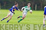 Ballydonoghue's  Thomas Kennelly and St Senan's John Barry in County league Division 5 - St Senan's 0-16 vs 2-10 Ballydonoghue at Mountcoal on Sunday