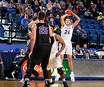 BROOKINGS, SD - NOVEMBER 6: Mike Daum #24 from South Dakota State University shoots shoots against Grand Canyon University during their game Tuesday night at Frost Arena in Brookings, SD. (Photo by Dave Eggen/Inertia)