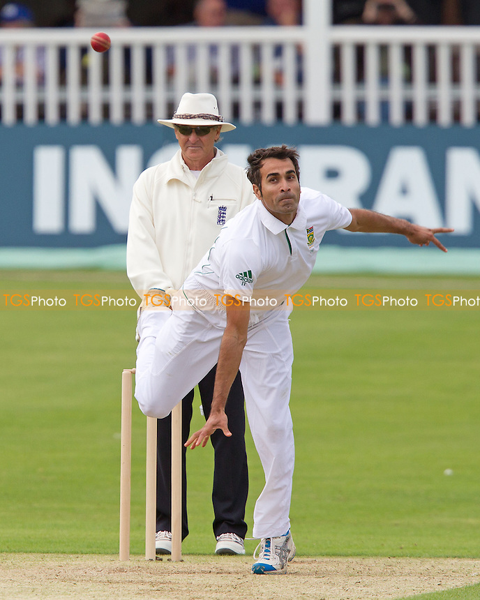 Imran Tahir, South Africa in action - Kent CCC vs South Africa - Tourist Match Cricket at The St Lawrence Ground, Canterbury - 13/07/12 - MANDATORY CREDIT: Ray Lawrence/TGSPHOTO - Self billing applies where appropriate - 0845 094 6026 - contact@tgsphoto.co.uk - NO UNPAID USE.