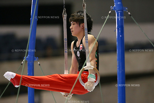 Ryohei Kato, <br /> MAY 17, 2015 - Artistic Gymnastics : <br /> The 54th NHK Cup <br /> Men's Individual All-Around <br /> Rings <br /> at Yoyogi 1st Gymnasium, Tokyo, Japan. <br /> (Photo by YUTAKA/AFLO SPORT)