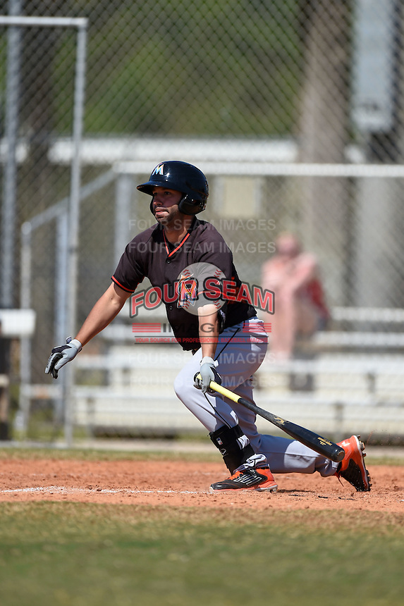 Miami Marlins Anthony Gomez (13) during a minor league spring training game against the St. Louis Cardinals on March 31, 2015 at the Roger Dean Complex in Jupiter, Florida.  (Mike Janes/Four Seam Images)