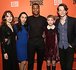 """Odessa Young, Lauren Patten, J. Alphonse Nicholson, Tavi Gevinson and Mike Faist attends the After Party for the Second Stage Production of """"Days Of Rage"""" at Churrascaria Platforma on October 30, 2018 in New York City."""