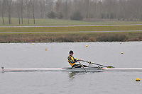 092 ChristchurchRC J16A.1x..Marlow Regatta Committee Thames Valley Trial Head. 1900m at Dorney Lake/Eton College Rowing Centre, Dorney, Buckinghamshire. Sunday 29 January 2012. Run over three divisions.