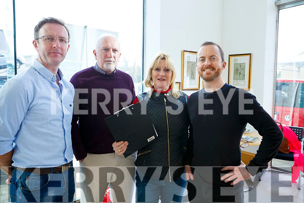 Tom McCarthy, Charlie Daly, Mary Fine (Producer of RTE Nationwide) and Rob McGuire (Producer of the documentary the Castle of the Island) at the RTE's Nationwide recording of the programme in Divanes Castleisland on Tuesday afternoon.