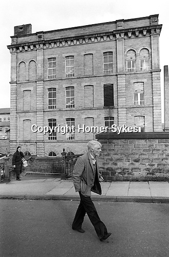 Saltaire near Shipley Bradford West Yorkshire England 1981. World Heritage Site