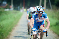 The ever positive James Vanlandschoot (BEL/Wanty-Groupe Gobert) riding in one of his last pro races ever. <br /> Also one of the most chaotic ones ever he would later claim.<br /> <br /> 90th Schaal Sels 2015