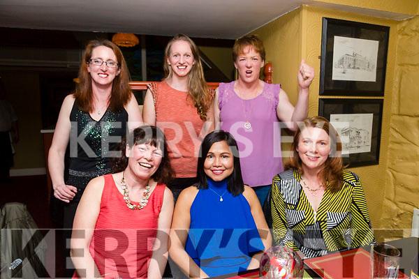 front l-r Loretta O'Sullivan, Eileen O Mahony, Carmel Quinn back l-r Niamh Abeyta, Sandra Byrne and Kirstie McTrusty  enjoying  the Brogue Inn Marathon After party on Saturday