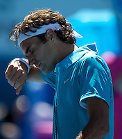 Roger Federer (SUI) (1)  against Igor Andreev in the First Round of the Mens Singles. Federer beat Andreev 4-6 6-2 7-6 (2) 6-0 ..International Tennis - Australian Open Tennis - Tuesday 19 Jan 2010 - Melbourne Park - Melbourne - Australia ..© Frey - AMN Images, 1st Floor, Barry House, 20-22 Worple Road, London, SW19 4DH.Tel - +44 20 8947 0100.mfrey@advantagemedianet.com