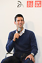 "Novak Djokovic announcing the launch of ""Clothes for Smiles"" foundation', press conference on 16 Oct 2012 Tokyo Japan. (Photo by Motoo Naka)"
