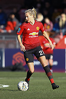 Millie Turner of Manchester United Women during Brighton & Hove Albion Women vs Manchester United Women, SSE Women's FA Cup Football at Broadfield Stadium on 3rd February 2019