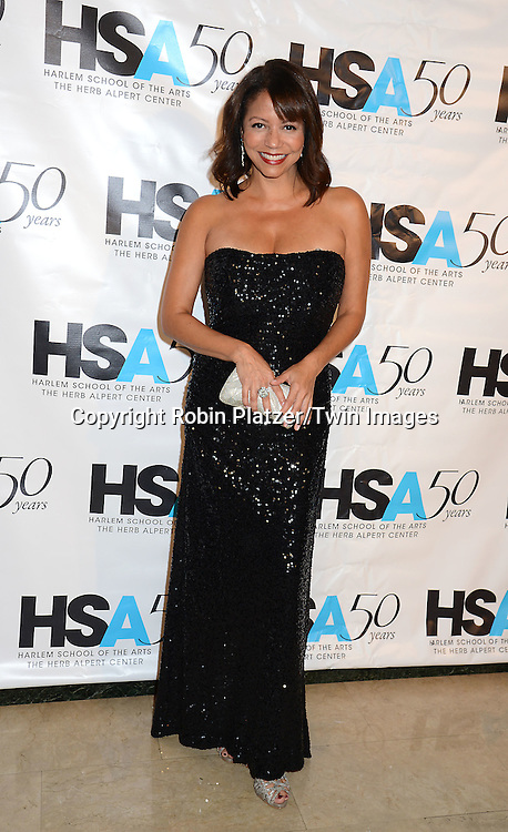 Gloria Reuben attends the Harlem School of the Arts 50th Anniversary Gala on October 5, 2015 at The Plaza Hotel in New York City, New York, USA.<br /> <br /> photo by Robin Platzer/Twin Images<br />  <br /> phone number 212-935-0770