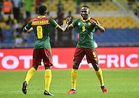 Benjamin Moukandjo et Jacques Zoua<br /> Libreville ( Gabon ) 14-01-2017 Coppa Africa 2017 <br /> Camerun -  Burkina Faso <br /> Foto Panoramic / Insidefoto