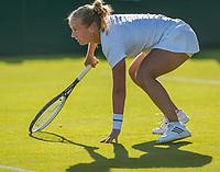 London, England, 3 th July, 2017, Tennis,  Wimbledon,  Richel Hogenkamp (NED)<br /> Photo: Henk Koster/tennisimages.com