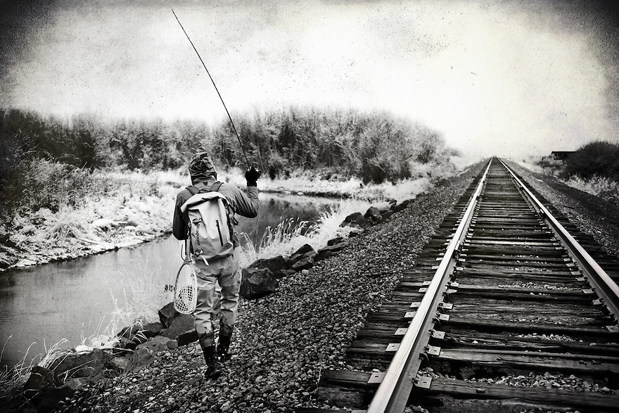 An angler fishes Poindexter Slough outside of Dillon, Montana.