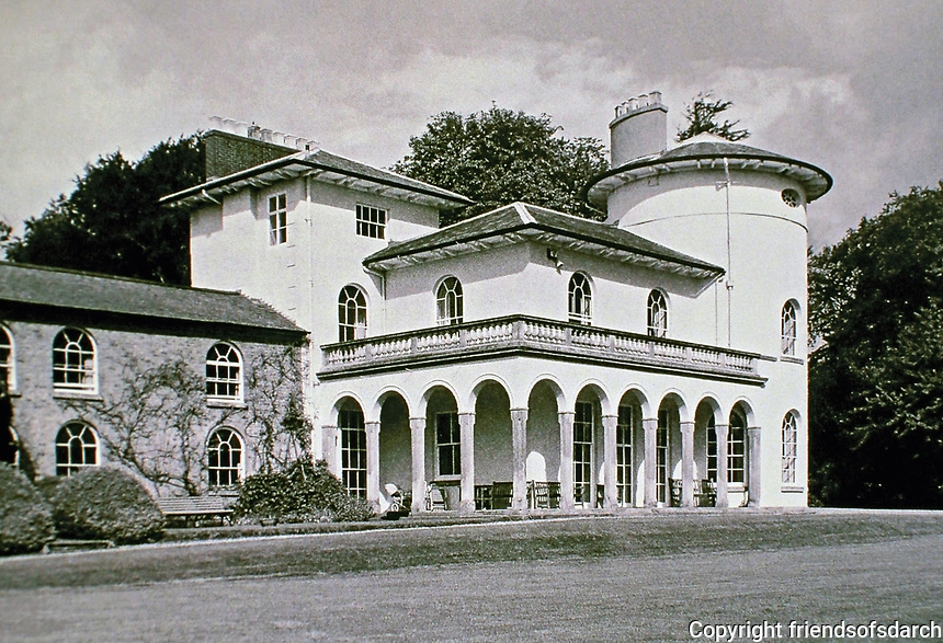 Cronkhill: Atcham, Shropshire. Earliest Italianate Villa in England. Designed by John Nash, 1810.