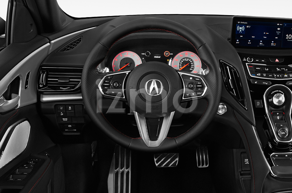 Car pictures of steering wheel view of a 2020 Acura RDX A-Spec Package 5 Door SUV