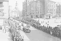 H.R.H. King George VI and Queen Elizabeth at Quebec, Que., 1939.