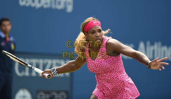 FLUSHING NY- AUGUST 28: Serena Williams Vs Vania King on Arthur Ashe stadium at the USTA Billie Jean King National Tennis Center on August 28, 2014 inFlushing Queens. <br /> CAP/MPI/mpi04<br /> &copy;mpi04/MediaPunch/Capital Pictures