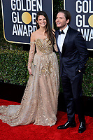 LOS ANGELES, CA. January 06, 2019: Daniel Bruhl & Felicitas Rombold  at the 2019 Golden Globe Awards at the Beverly Hilton Hotel.<br /> Picture: Paul Smith/Featureflash