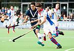 AMSTELVEEN - Daan Dullemeijer (SCHC) met Camil Papa (Pinoke) . Hoofdklasse competitie heren. Pinoke-SCHC (0-1) . COPYRIGHT  KOEN SUYK
