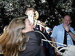 TV presernter Jeremy Clarskon is pied by  protesters against his honorary degree at Brookes,Oxford. On the day of the degreee ceremony.