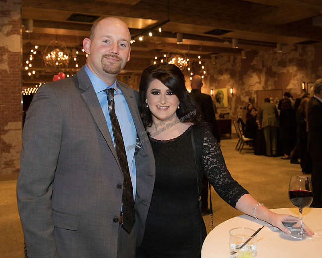 Kyle and Michelle Vickers during the Step 2 Jingle & Mingle held at the Whitney Peak Hotel on Friday night, December 1, 2017.