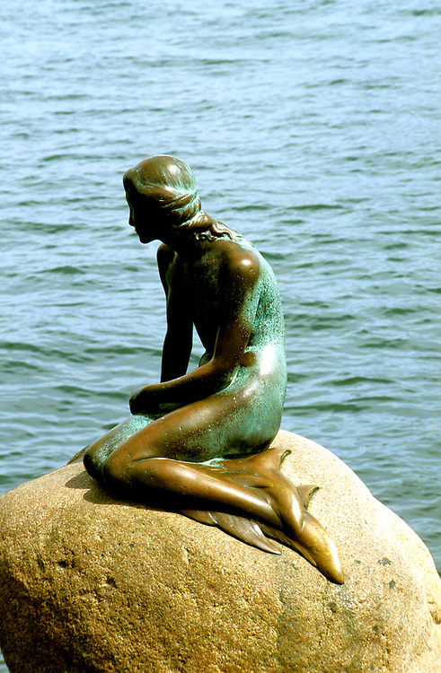 Denmark: Copenhagen, Little Mermaid sculpture, statue, harbor, photo: viking104  .Photo copyright Lee Foster, www.fostertravel.com, 510/549-2202, lee@fostertravel.com