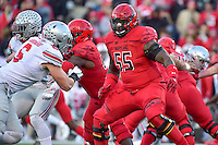 College Park, MD - NOV 12, 2016: Maryland Terrapins offensive lineman Derwin Gray (55) in action during game between Maryland and Ohio State at Capital One Field at Maryland Stadium in College Park, MD. (Photo by Phil Peters/Media Images International)