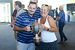 NELSON, NEW ZEALAND - FEBRUARY 18:  Griffins Cricket return at Nelson Airport with the Hawke Cup on February 18 2019 in Nelson, New Zealand. (Photo by: Evan Barnes Shuttersport Limited)