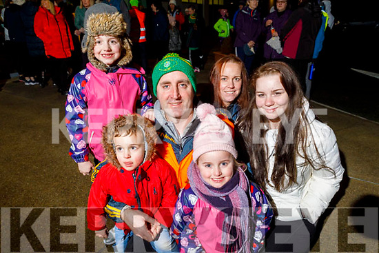Declan, Catherine, Caitlín, Noelle, Lauren and Issac Connelly ready for a walk with 'Ireland lights up' walking initiative in partnership with the GAA and Operation Transformation in the John Mitchels Complex on Friday.