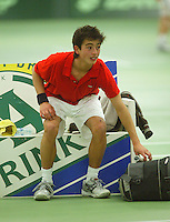 10-3-06, Netherlands, tennis, Rotterdam, National indoor junior tennis championchips, Xander Spong